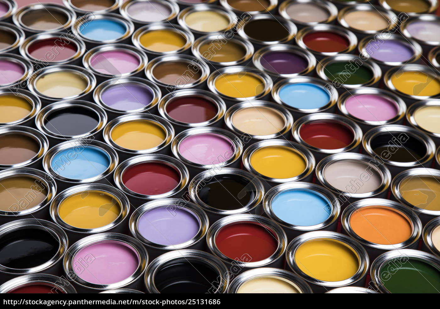 collection, of, colored, paints, cans - 25131686