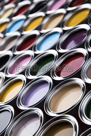 colorful, paint, cans, set - 25131052