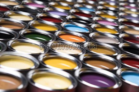colorful, paint, cans, set - 25131316