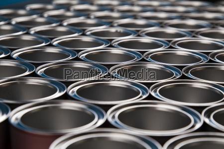 metal, tin, paint, cans - 25131252