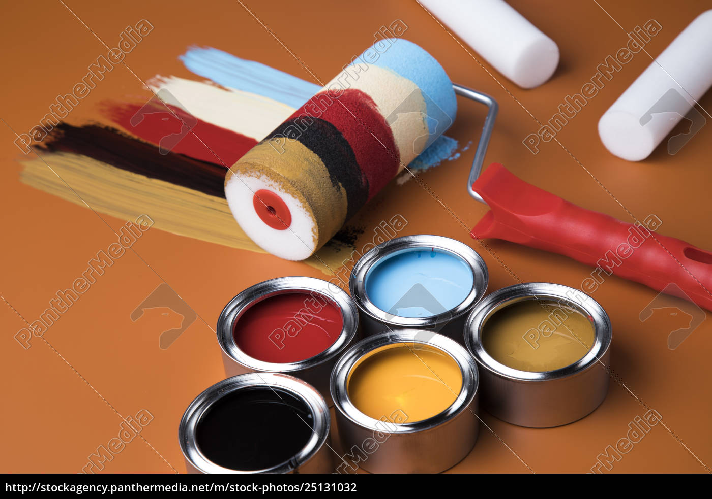 paint, roller, , cans, with, color - 25131032