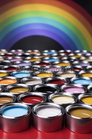 rainbow, colors, , group, of, tin, metal - 25131036