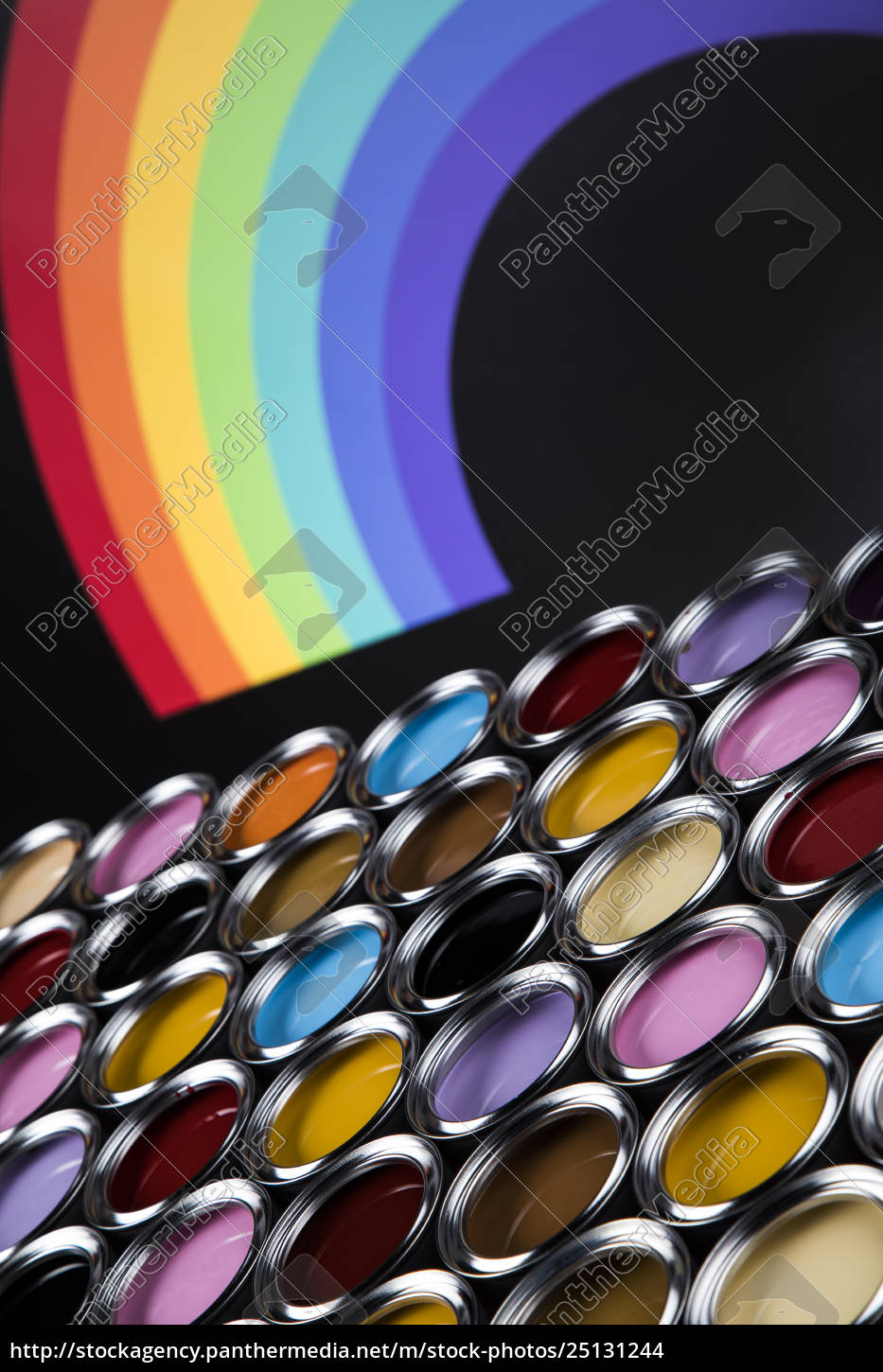 rainbow, colors, , group, of, tin, metal - 25131244