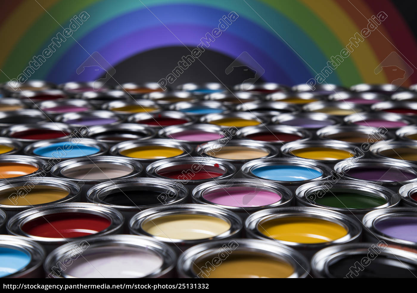rainbow, colors, , group, of, tin, metal - 25131332