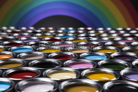 rainbow, colors, , group, of, tin, metal - 25131332