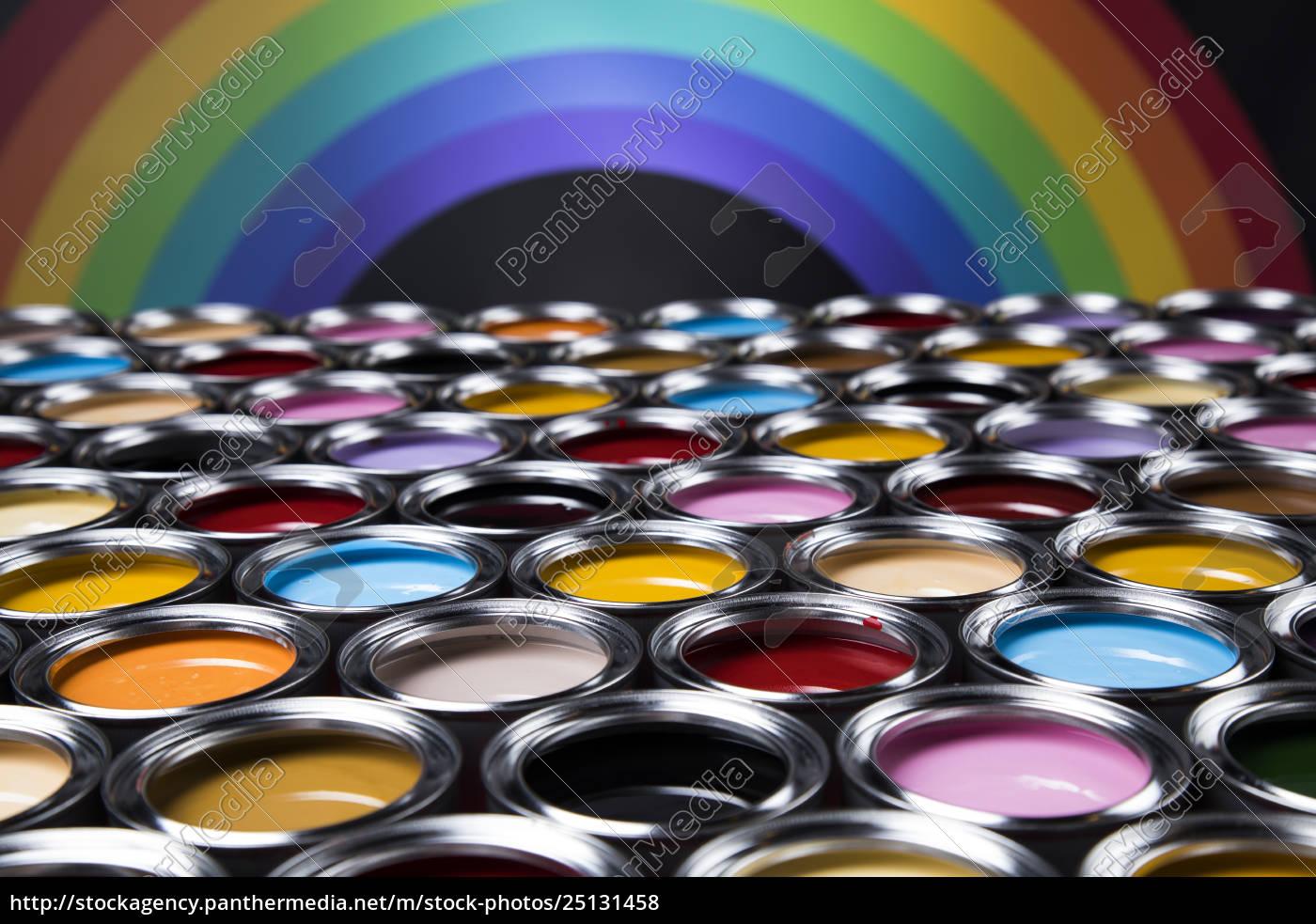 rainbow, colors, , group, of, tin, metal - 25131458