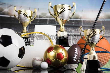 sport, podium, , cups, of, winners, award - 25131624