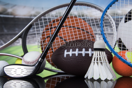 sports, balls, with, equipment - 25131094