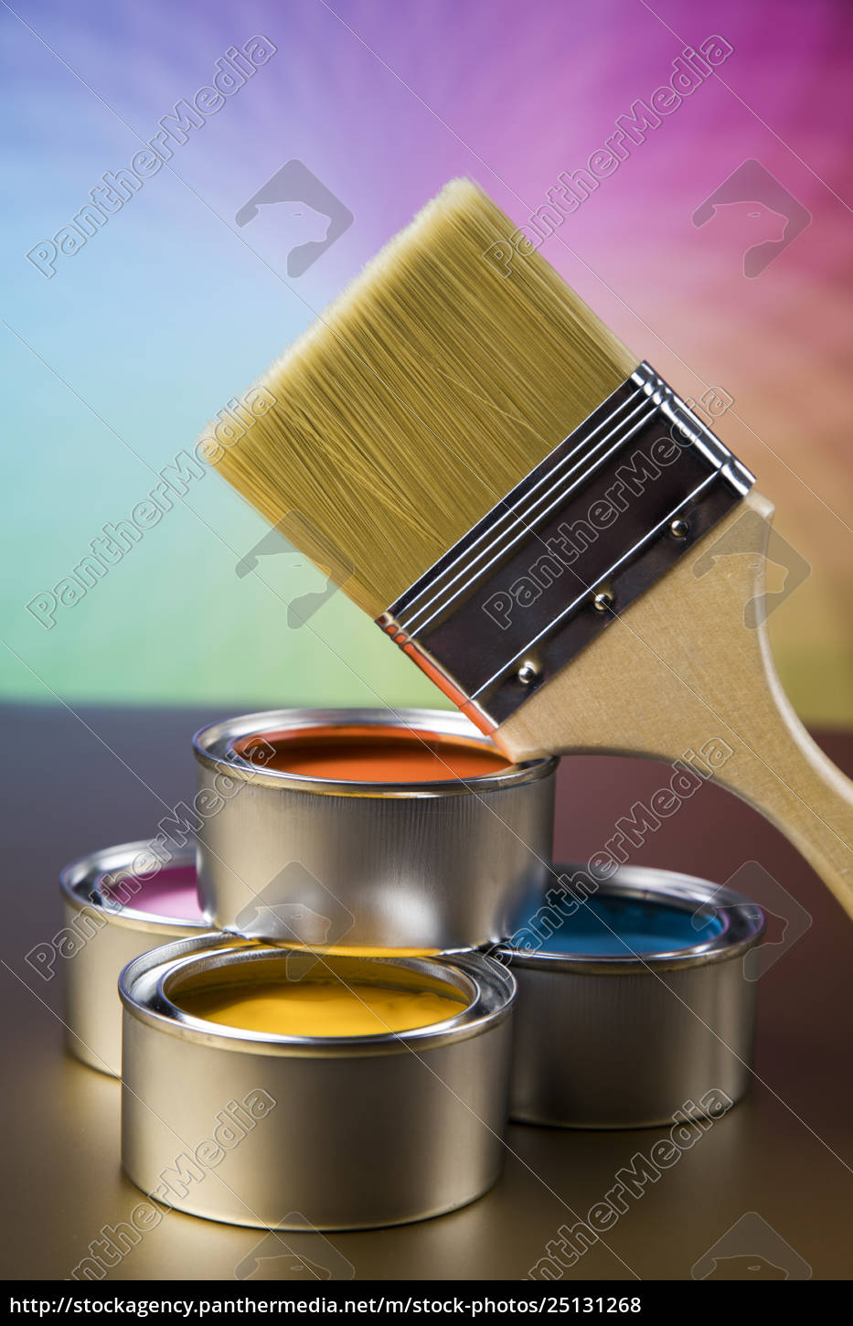tin, metal, cans, with, color, paint - 25131268