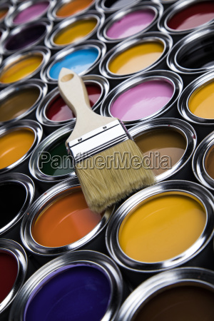 tin, metal, cans, with, color, paint - 25131400