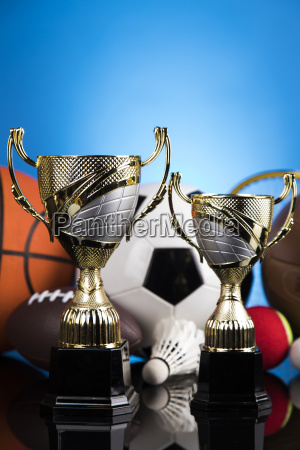 trophy, winning, , sport, ball, background - 25131242