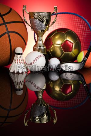 trophy, winning, , sport, ball, background - 25131524