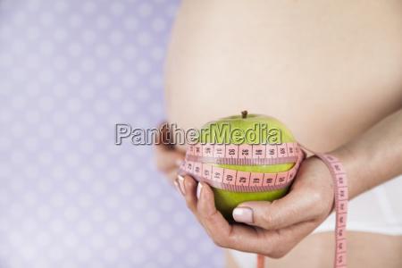 apple, , pregnancy, woman, , healthy, lifestyle, concept - 25134758