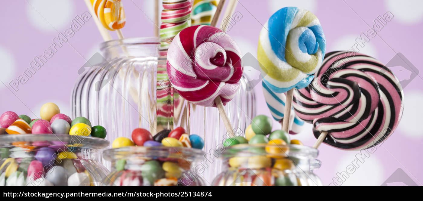 assorted, candies, including, lollipops, , gum, balls - 25134874