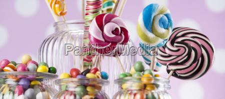 assorted, candies, including, lollipops, , gum, balls - 25134874