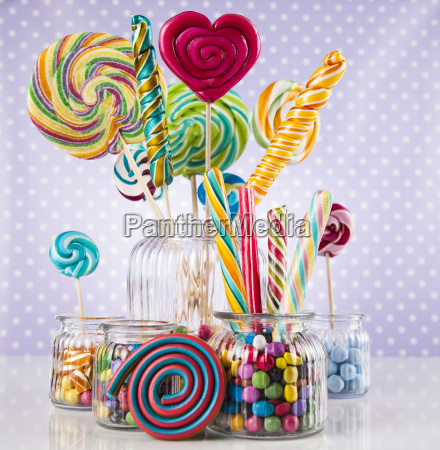 colorful, gum, sweet, candy, and, lollipops - 25134784