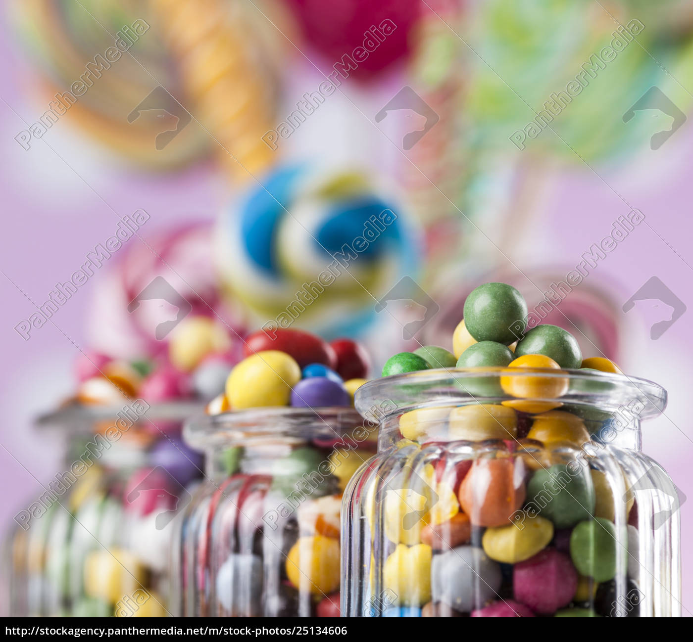 colorful, lollipops, and, different, colored, round - 25134606