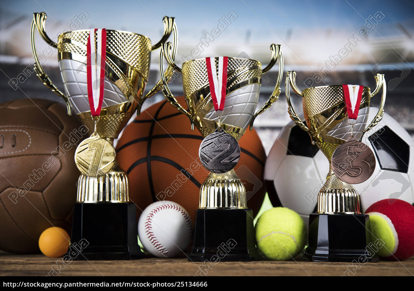 trophy, winning, , sport, ball, background - 25134666