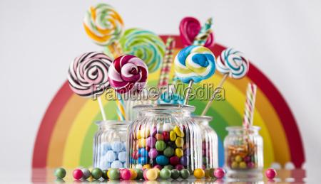 assorted, candies, including, lollipops, , gum, balls - 25135232