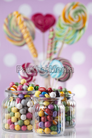 assorted, candies, including, lollipops, , gum, balls - 25135678