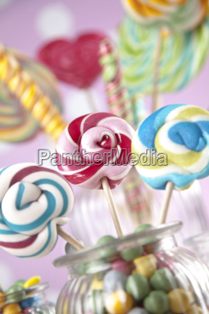colorful, lollipops, and, different, colored, round - 25135178