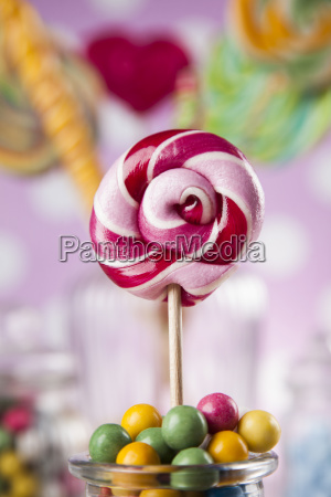 colorful, lollipops, and, different, colored, round - 25135268
