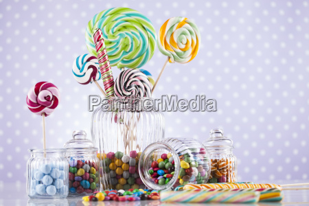 colorful, lollipops, and, different, colored, round - 25135366