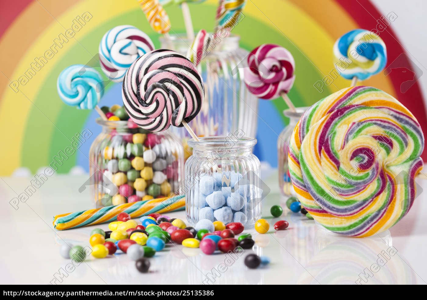 colorful, lollipops, and, different, colored, round - 25135386