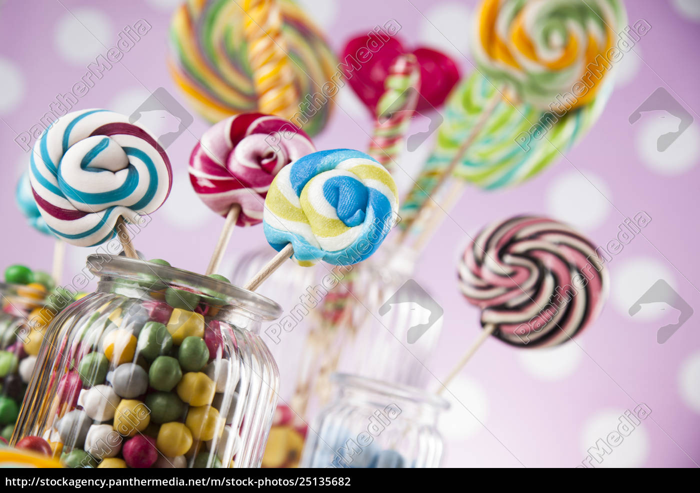 colorful, lollipops, and, different, colored, round - 25135682