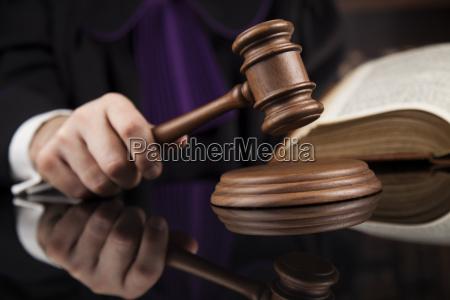 courtroom, , judge, , male, judge, in, black - 25135582