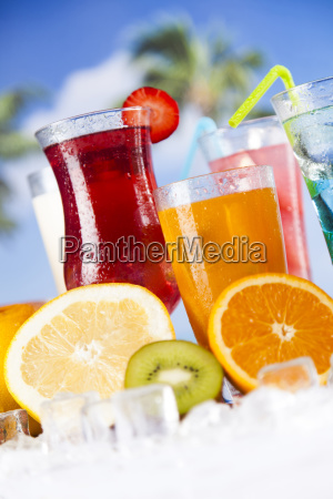 fresh, tropical, fruits, , summer, drink, and - 25135324