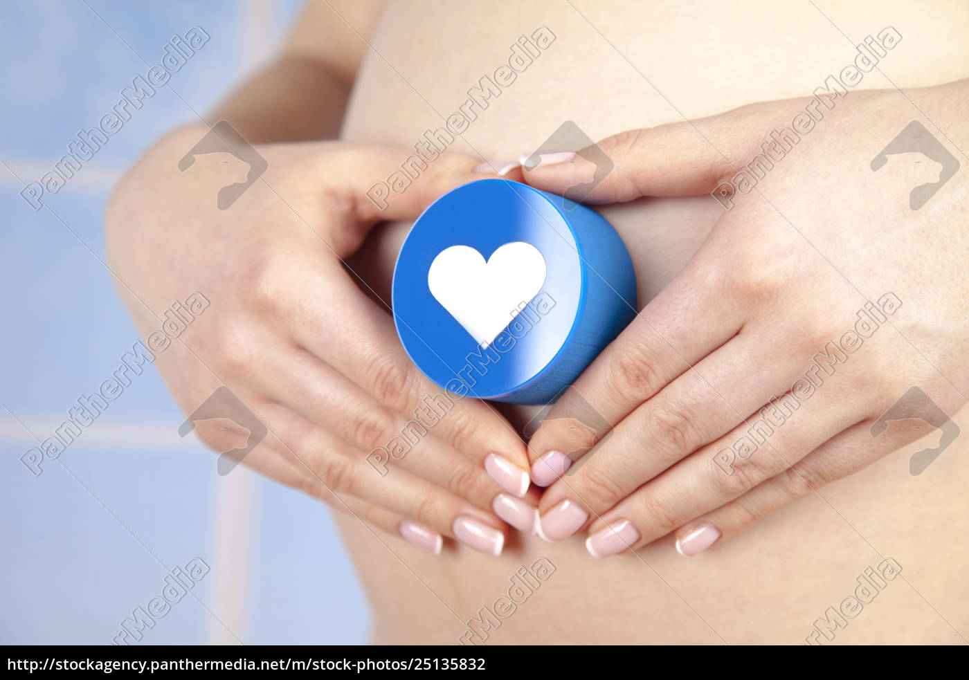 heart, , beautiful, pregnant, woman, belly - 25135832