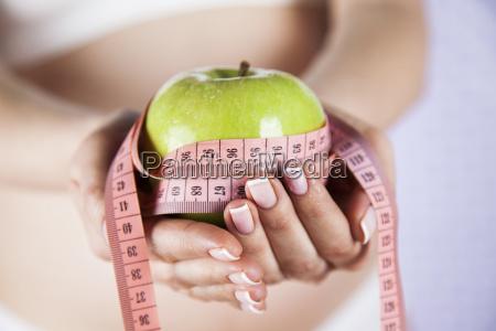 pregnant, woman, , apple - 25135956