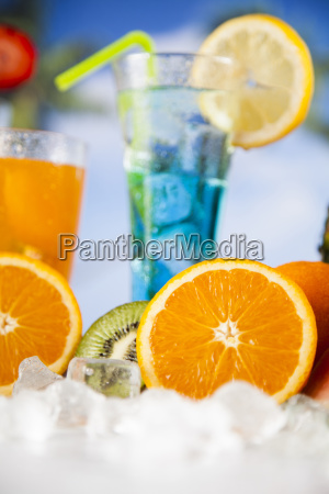 summer, drink, , palm, branch, and, fresh - 25135158
