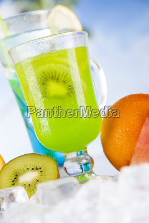 summer, drink, , palm, branch, and, fresh - 25135394