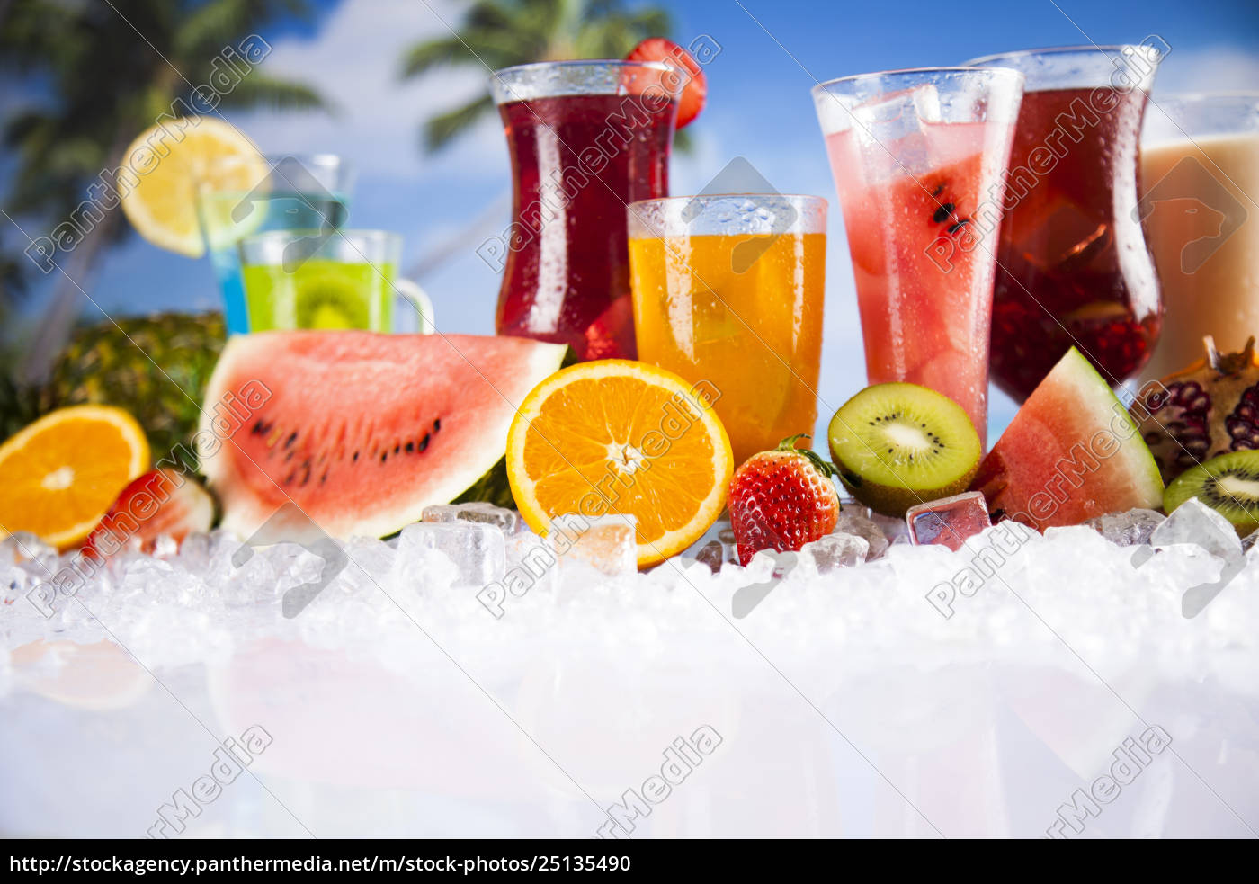 summer, drink, , palm, branch, and, fresh - 25135490