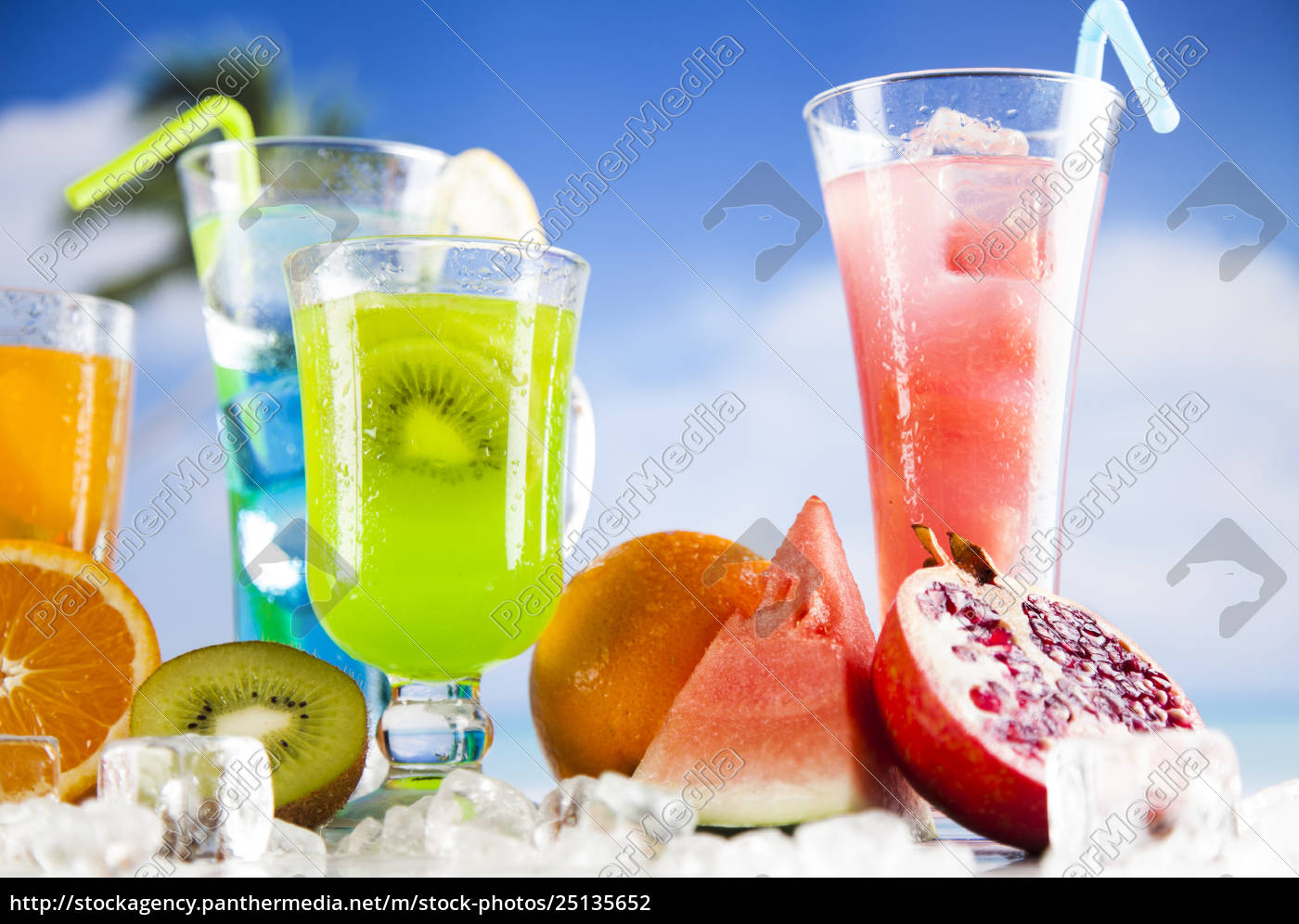 summer, drink, , palm, branch, and, fresh - 25135652