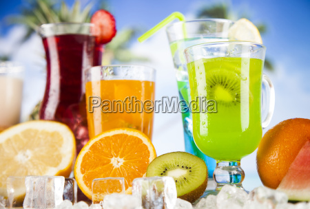 summer, drink, , palm, branch, and, fresh - 25135804