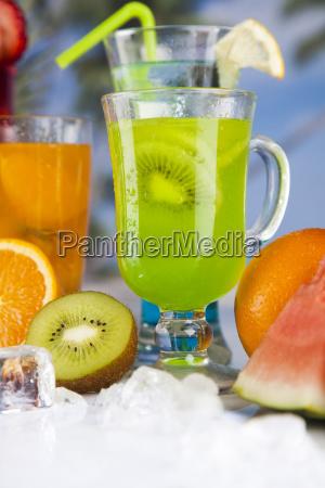 tropical, cocktails, set - 25135122