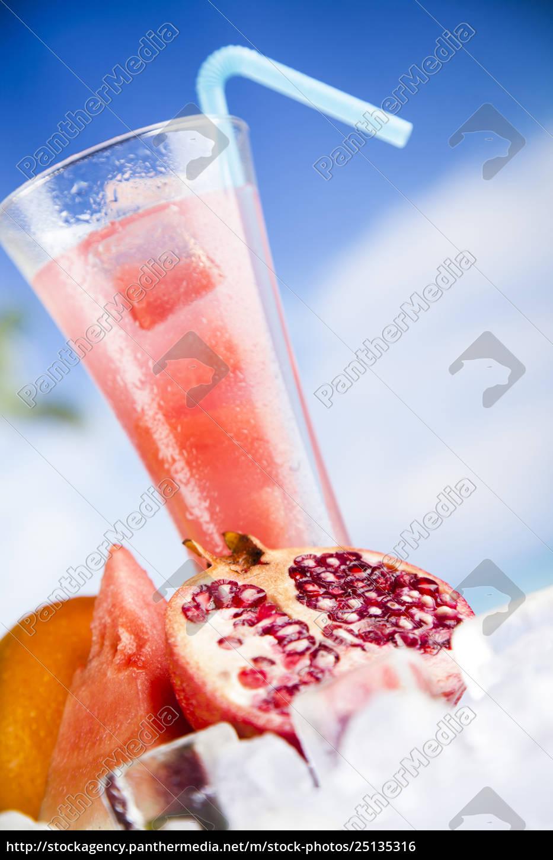 tropical, cocktails, set - 25135316