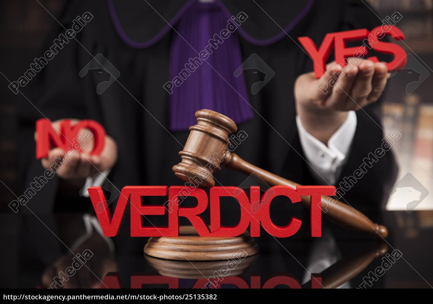verdict, , court, gavel, law, theme, , mallet, of - 25135382