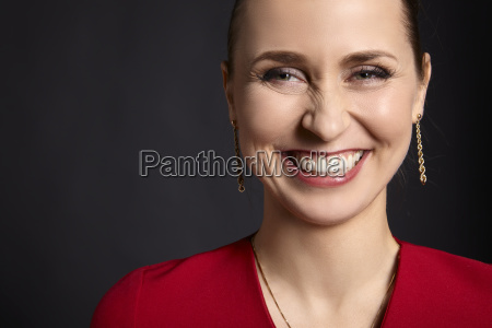 woman with white smile