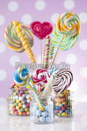 colorful, lollipops, and, different, colored, round - 25136252