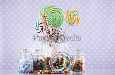 colorful, lollipops, and, different, colored, round - 25136272