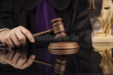 law, concept, , male, judge, in, a - 25136172