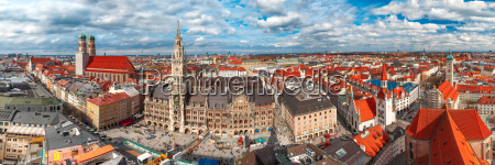 aerial panoramic view of old town