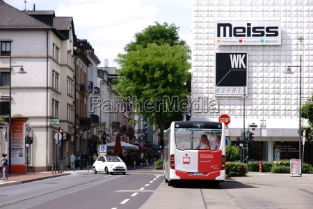bus traffic downtown bad homburg