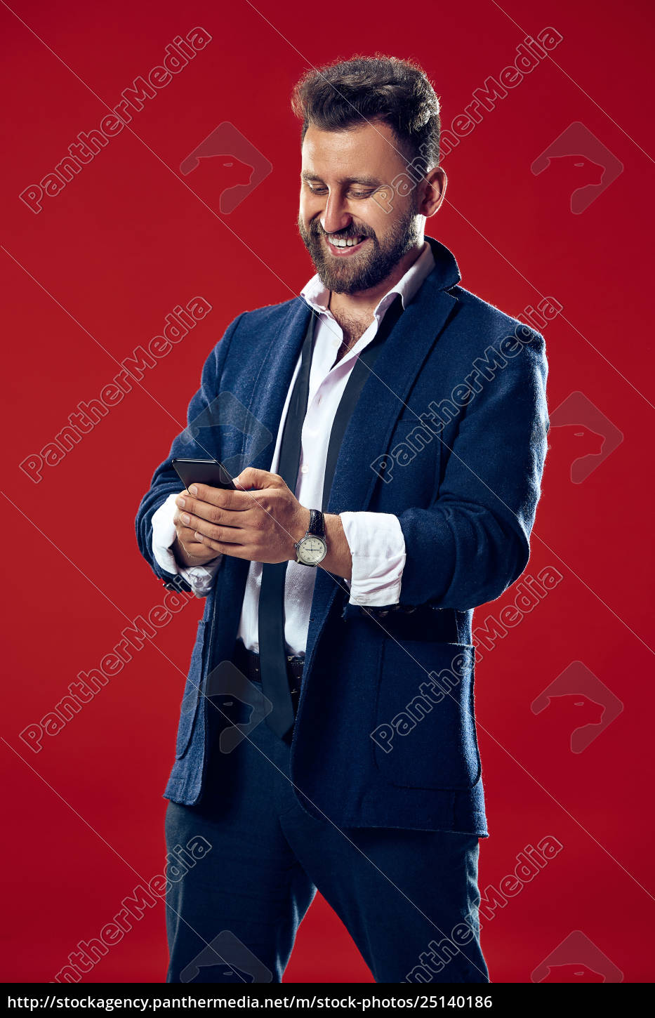 handsome, businessman, with, mobile, phone - 25140186