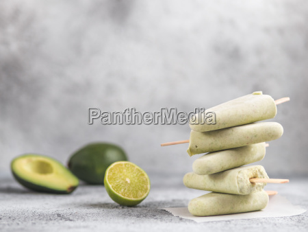 avocado, lime, popsicle, , copy, space - 25142390