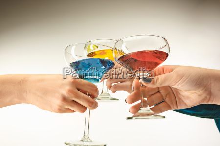 the male and female hands with